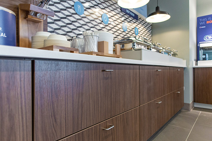 cafeteria buffet cabinetry