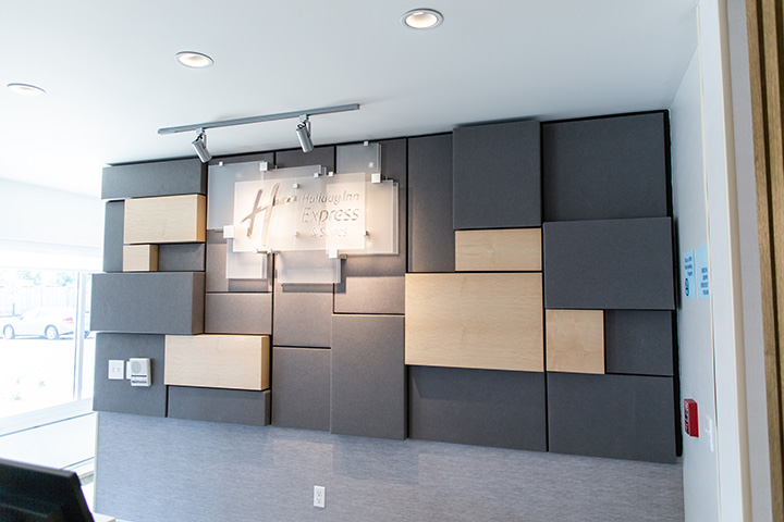 reception desk wall