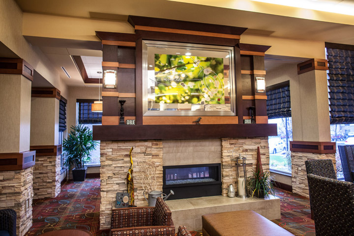 hotel fireplace millwork
