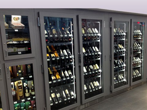 Refrigerated Wine Unit Cms Display