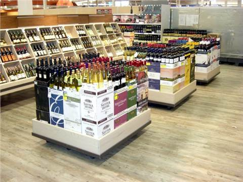 wine floor display